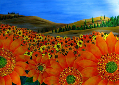 Michael Arnold, χωράφι με ηλιοτρόπια