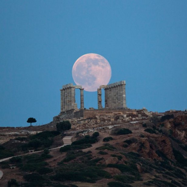 ancient marble Temple of Poseidon at Cape Sounion_June 20 2016